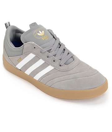 adidas Suciu Adv Grey, White & Gold Skate Shoes