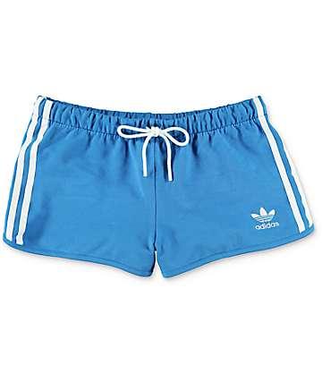 adidas Super shorts ceñidos en azul