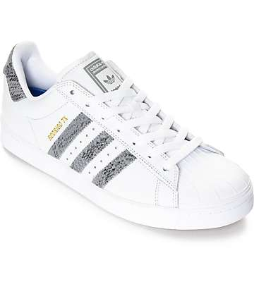 adidas Superstar Vulc ADV White & Snake Shoes