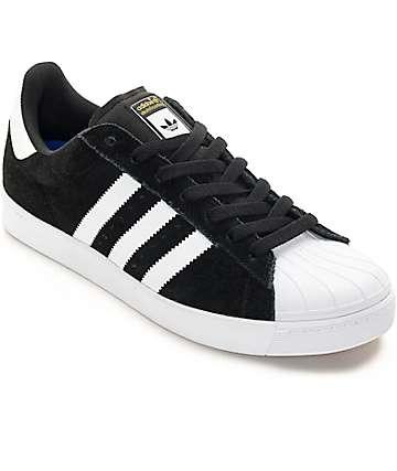adidas Superstar Vulc ADV zapatos de skate negros y blancos