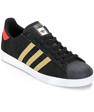 adidas Superstar Vulc Black Skate Shoes