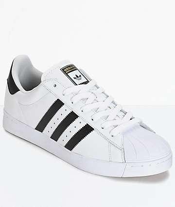 adidas Superstar Vulc zapatos en blanco y negro