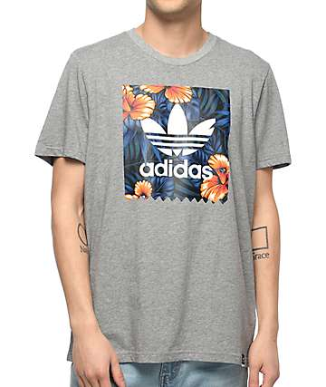 adidas Sweet Leaf Blackbird Grey T-Shirt