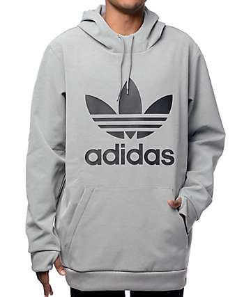 adidas Team Tech Fleece Grey Hoodie