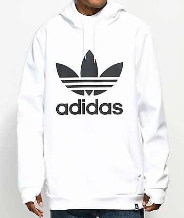 adidas Team Tech Fleece White Hoodie
