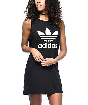 adidas Trefoil Black Tank Dress