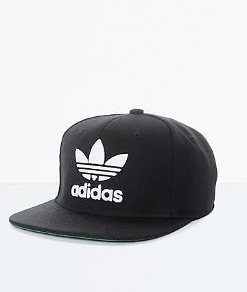 adidas Trefoil Chain Black & White Snapback Hat