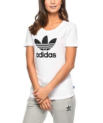adidas Trefoil camiseta blanca