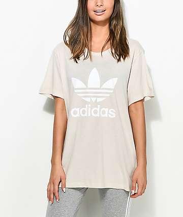 adidas Trefoil camiseta en color caqui