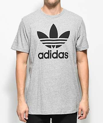 adidas Trefoil camiseta en gris jaspeado