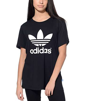 adidas Trefoil camiseta en negro