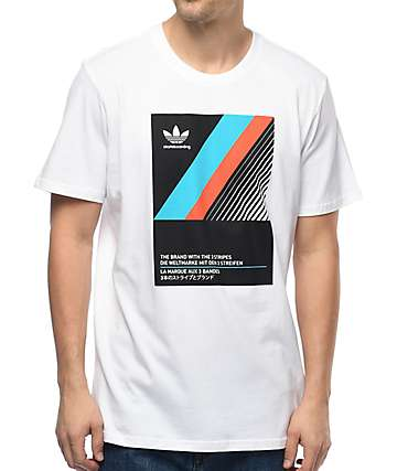 adidas VHS Block White T-Shirt