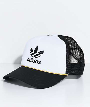 adidas White & Black Trucker Hat