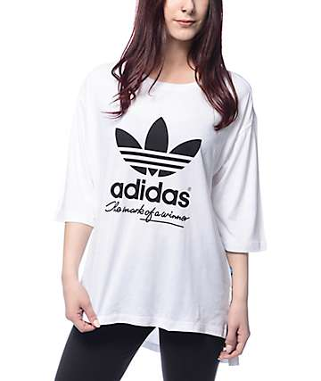 adidas White Football T-Shirt