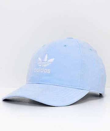 adidas Women's Relaxed Plus Aero Blue Strapback Hat
