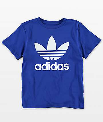 adidas Youth Trefoil Blue T-Shirt