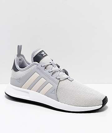 adidas Youth Xplorer Grey & Pink Shoes