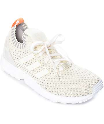 adidas ZX Flux White Primeknit Shoes