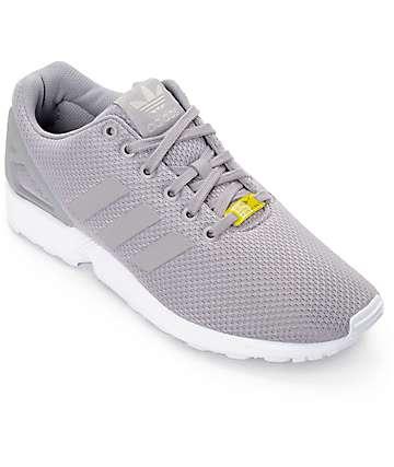 adidas ZX Flux zapatos en gris y blanco
