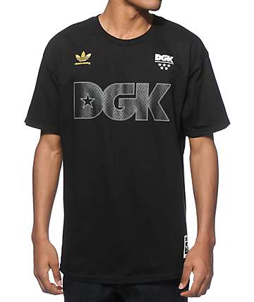 adidas x DGK Stacked Mesh Black T-Shirt