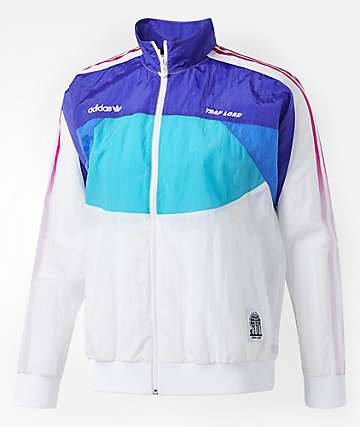 adidas x Trap Lord Ferg White, Blue & Purple Windbreaker Jacket