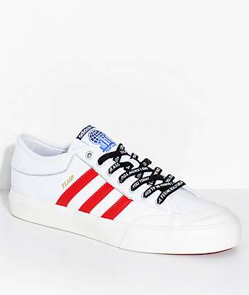 adidas x Trap Lord Matchcourt White & Red Shoes