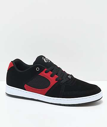 eS Accel Slim Black, Red & White Skate Shoes
