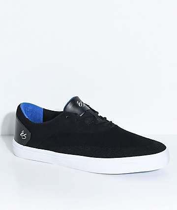 eS Arc Black & White Suede Skate Shoes