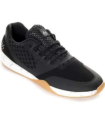 eS Sesla zapatos de skate en blanco, negro y goma