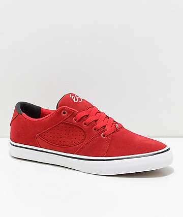 eS Square Three Red and White Skate Shoes