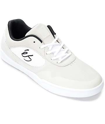 eS Swift Off White, White & Black Suede Shoes