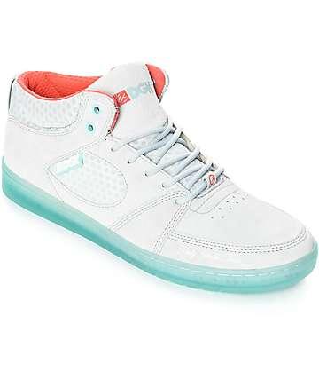 eS x DGK Accel Slim Mid zapatos de skate en gris y azul