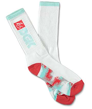 eS x DGK White Crew Socks