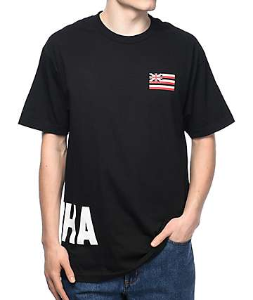in4mation Oki Aloha Black T-Shirt