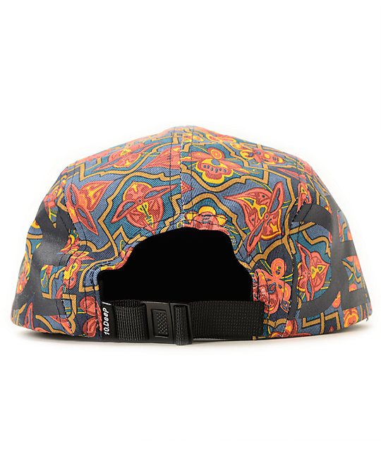 10 Deep Ironsides Navigator Aloha 5 Panel Hat