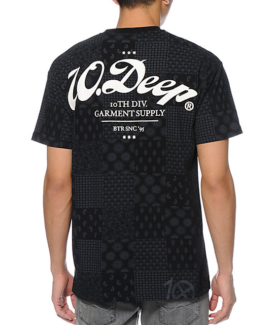 10 Deep New Standard Bandana Black T-Shirt