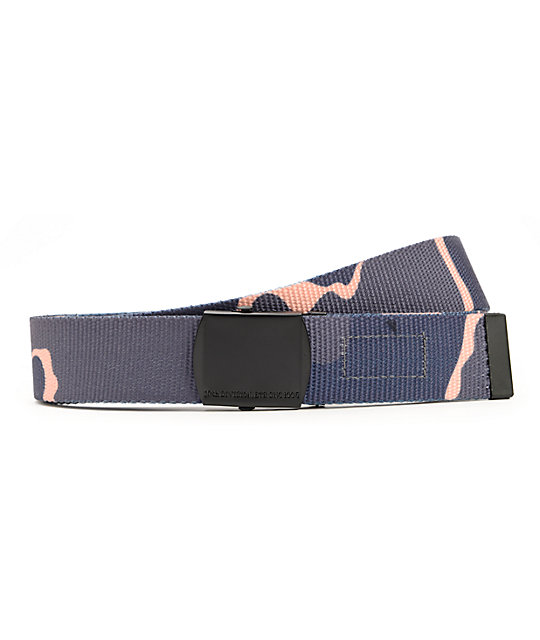 10 Deep Perfect Timing Navy Blue Chipless Camo Web Belt