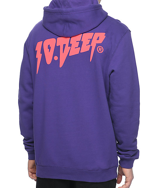 10 Deep Sound And Furry Purple & Pink Pullover Hoodie at Zumiez : PDP