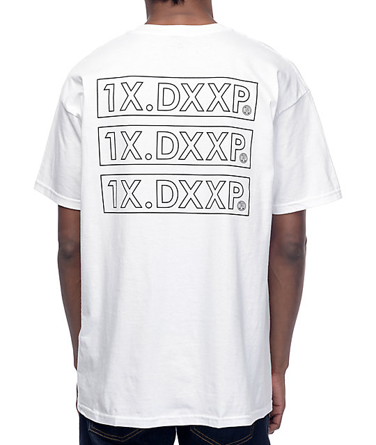 10 Deep Triple Stack White T-Shirt
