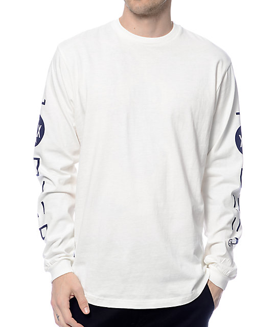 10 Deep Triple X Long Sleeve Cream T-Shirt | Zumiez