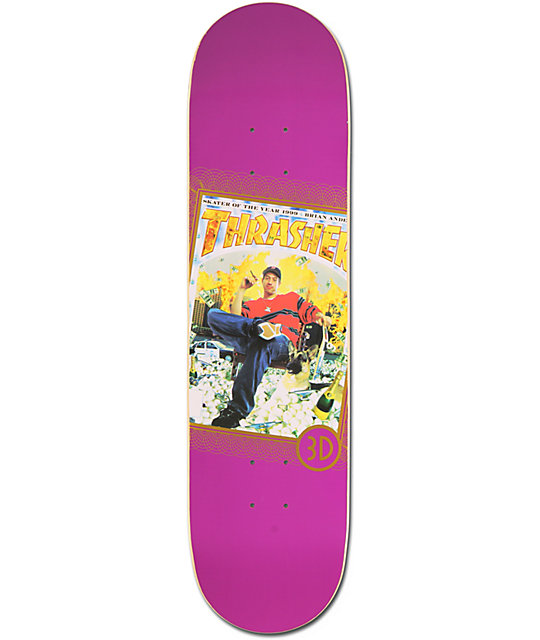 "3D Skater of the Year Brian Anderson 8.0""  Pro Model Skateboard Deck"