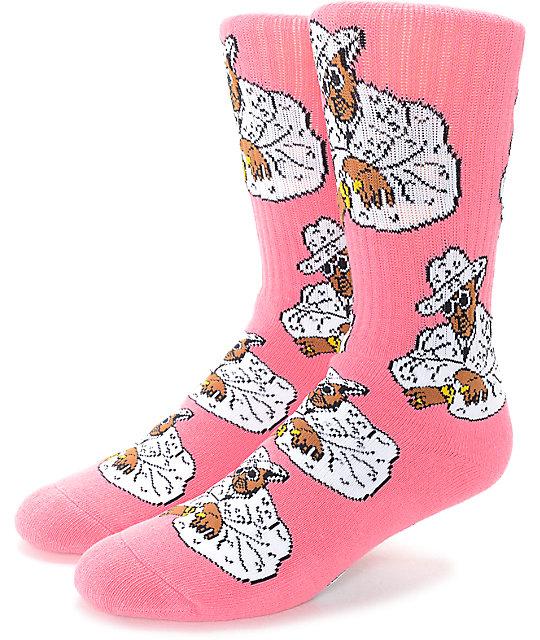 40's & Shorties Sweet Jones Pink Crew Socks