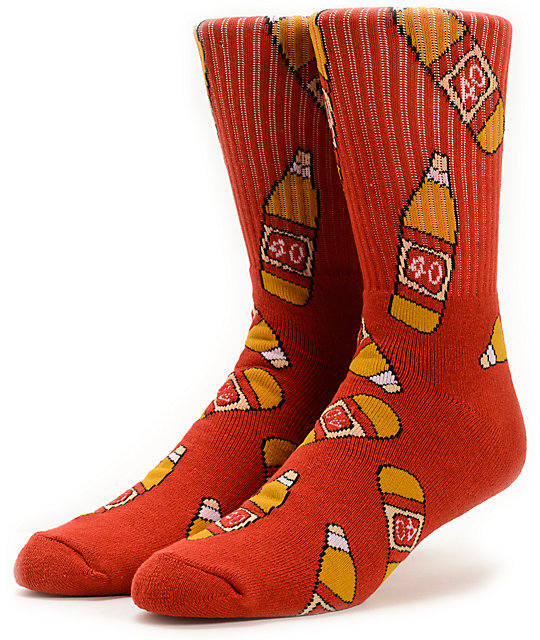 40s & Shorties 40s Red Crew Socks