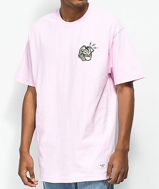 40s & Shorties Cash Phone Pink T Shirt by 40 S And Shorties