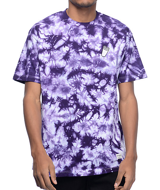 40s & Shorties Double Cup Purple Tie Dye T Shirt by 40 S And Shorties