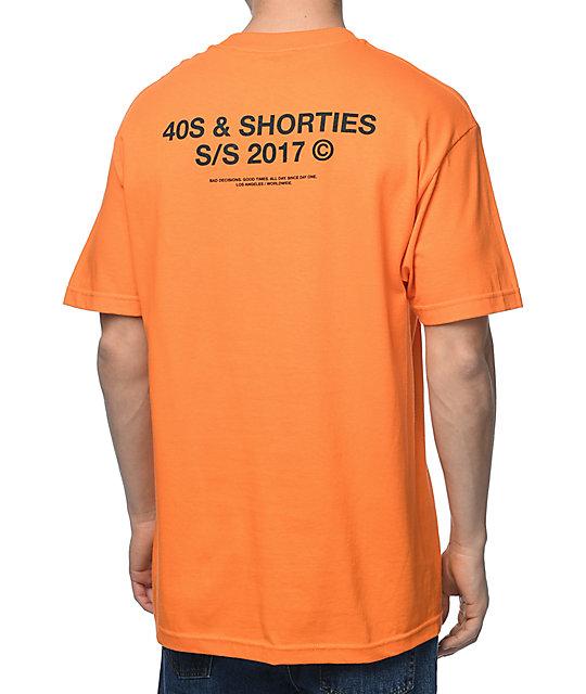 40s & Shorties General Logo Orange T-Shirt