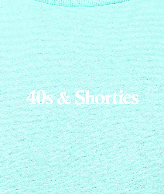 40s & Shorties Text Logo Celadon camiseta de manga larga