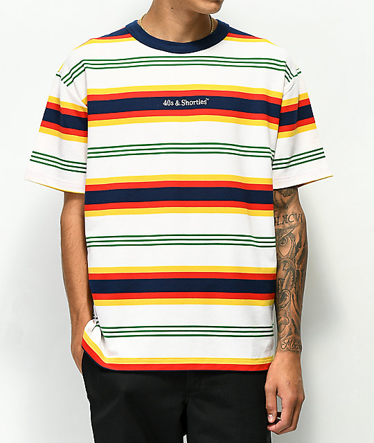 40s &Amp; Shorties Sundown Multi Stripe T Shirt by 40 S And Shorties