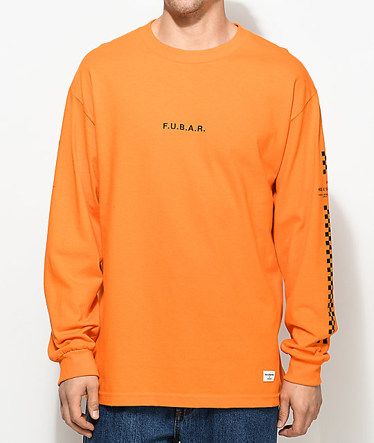 40s & Shorties F.U.B.A.R. Orange Long Sleeve T-Shirt | Zumiez
