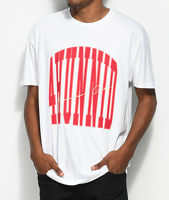 4Hunnid Members Only White T-Shirt | Zumiez